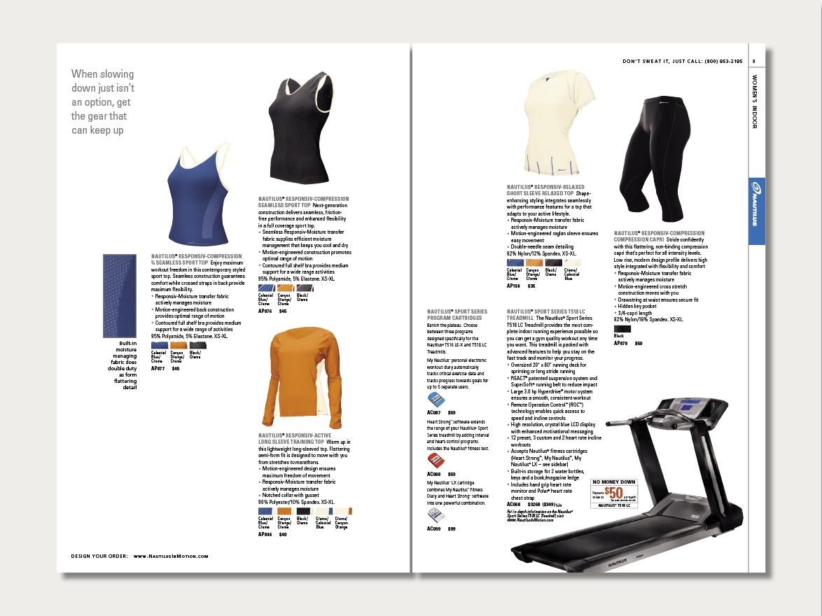 Nautilus Apparel catalog | WilbornDesign