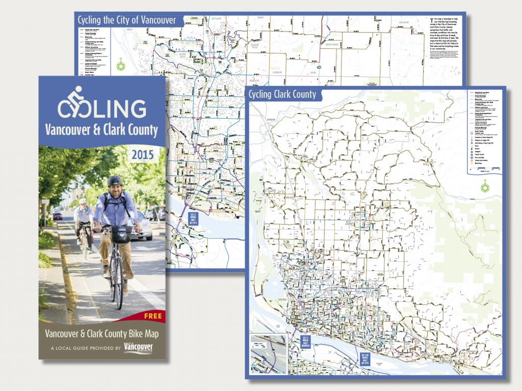 Cycling Vancouver & Clark County map